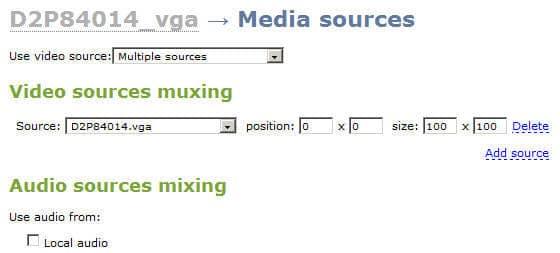 capture multiple video sources