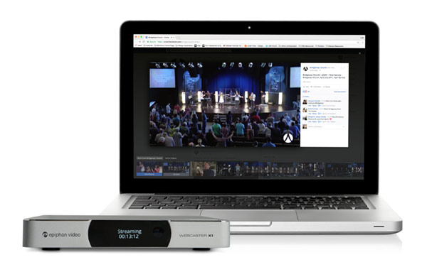 Bridgeway Church - Live streaming to Facebook with Webcaster X1