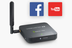 Webcaster X2 - The easiest way to live stream to Facebook and YouTube