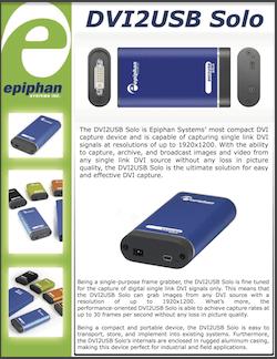 Epiphan DVI2USB Solo Brochure