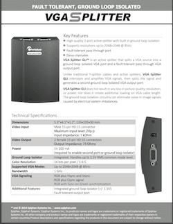 Epiphan VGA Splitter Brochure
