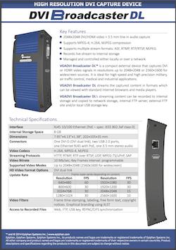 Epiphan DVI Broadcaster DL Brochure