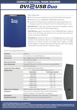 Epiphan DVI2USB Duo Brochure