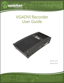 Epiphan VGADVI Recorder User Guide