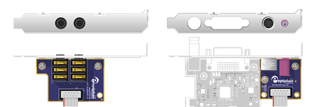 Low-profile configuration (shown here for DVI2PCIe Duo)