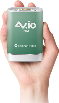 Built to last, AV.io HD features robust connectors and an all-aluminum enclosure. It's durable and small enough to be taken anywhere you need to share video!