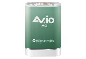 This image of the AV.io HD is a simple video capture device for HDMI video capture