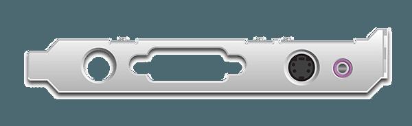 DVI2PCIe AV Kit Frame with S-Video