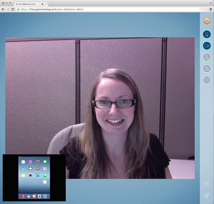 """""""Video Conference on GoToMeeting website"""