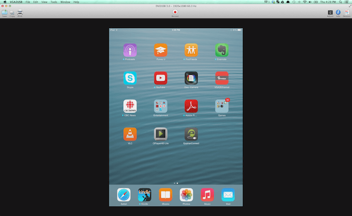 Stream an iPad screen during a GoToMeeting Video Coinference