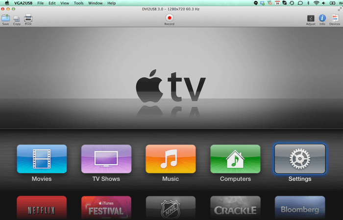 Apple TV on DVI2USB 3.0