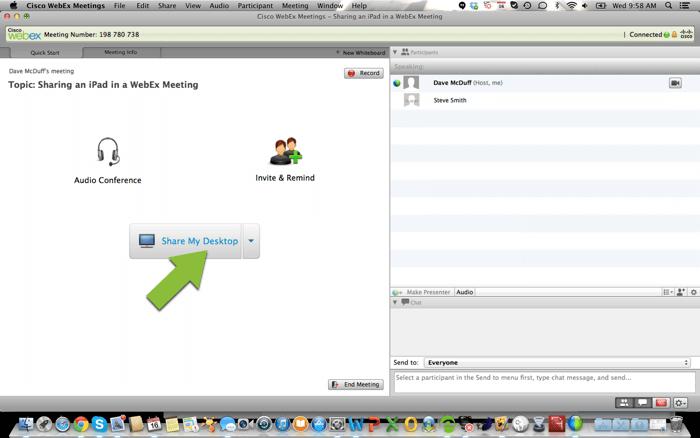 Cisco webex meeting started