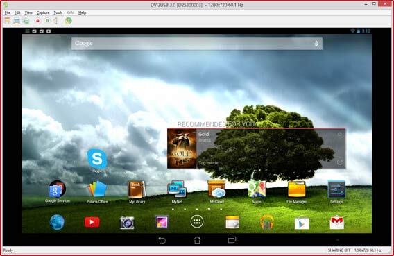 Sharing Android Tablet screen on Skype