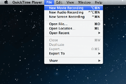 record video using a video grabber and QuickTime