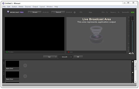 Telestream Wirecast Interface