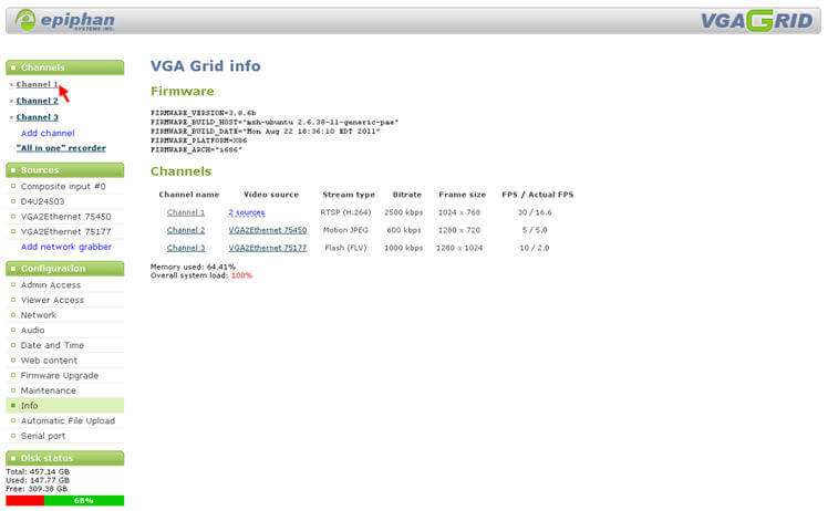 VGA Grid settings