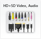 HD and SD video, audio