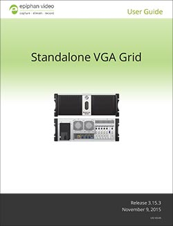 Epiphan Standalone VGA Grid User Guide