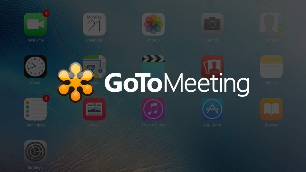 Share an ipad on GoToMeeting