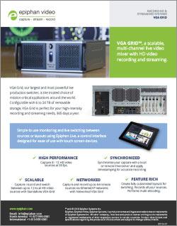 Epiphan Standalone VGA Grid brochure