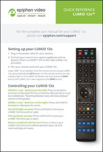 LUMiO 12x quick reference