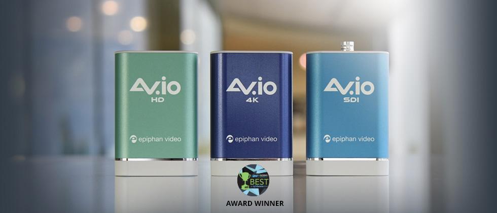 Award-winning AV.io Video grabber and capture card family,