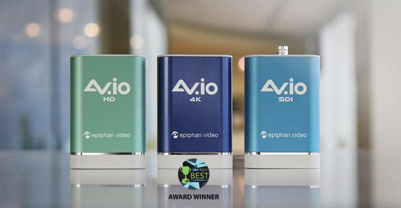 Award-winning AV.io Video grabber and capture card family