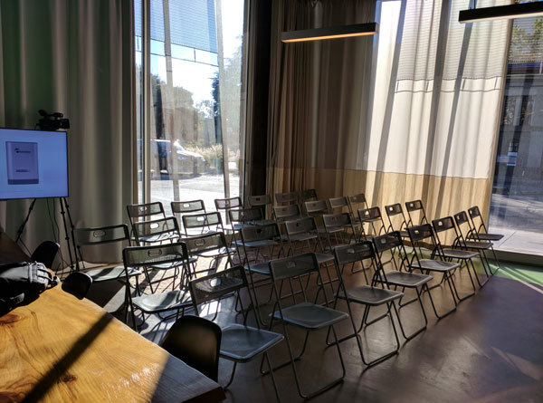 Epiphan Palo Alto event space seating area
