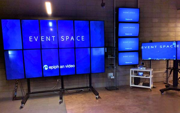 Epiphan Palo Alto event space video wall