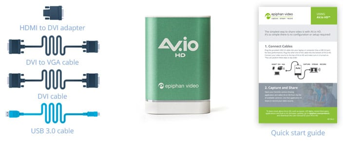 AV io HD - USB video grabber for HDMI video capture