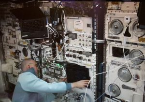 KVM2USB aboard the International Space Station for the third PK-4 research experiment.