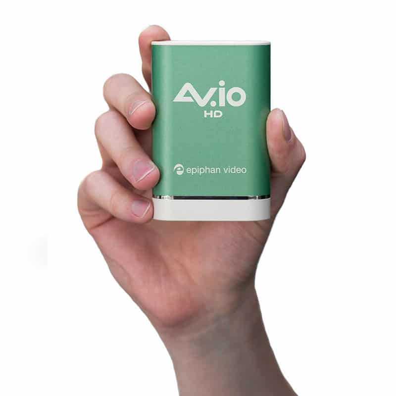 AV.io HD in hand