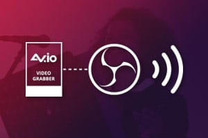 Multi-source streaming to social platforms with OBS and AV.io video capture