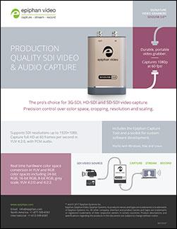 Epiphan SDI2USB 3.0 brochure
