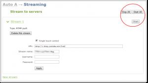 stream-to-servers: multipublishing to youtube live push