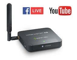webcaster-x2 - Stream to Facebook or YouTube