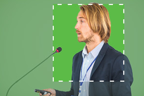 green-screen chroma key