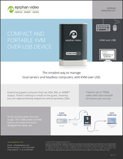 KVM2USB 3.0 brochure