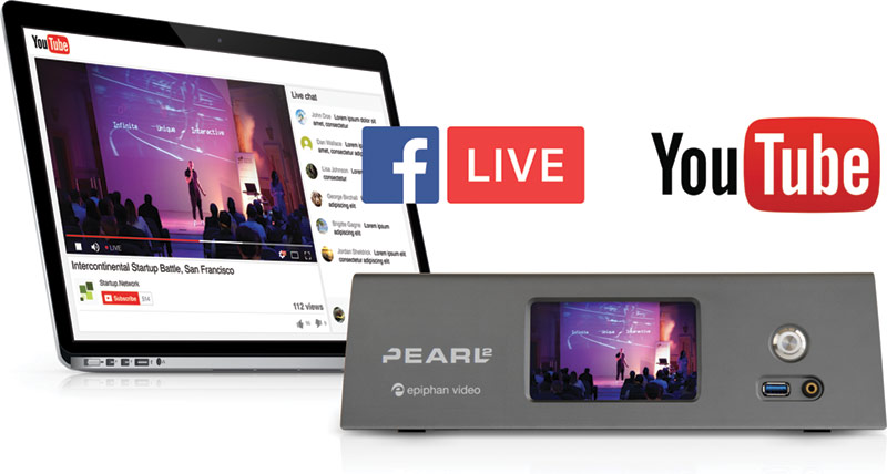 Startup.Network used Epiphan's Pearl-2 to live stream the Startup Battle to YouTube and Facebook simultaneously