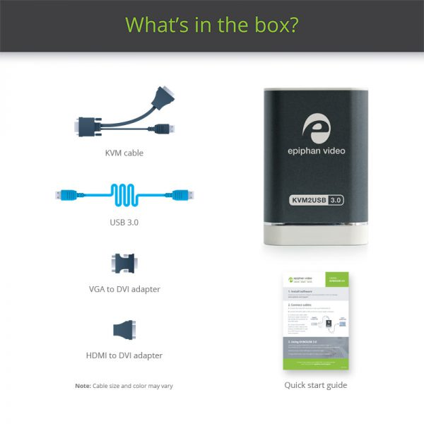 KVM2USB 3.0 - What's in the box?
