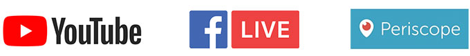 Free live streaming platforms YouTube Facebook Live Periscope