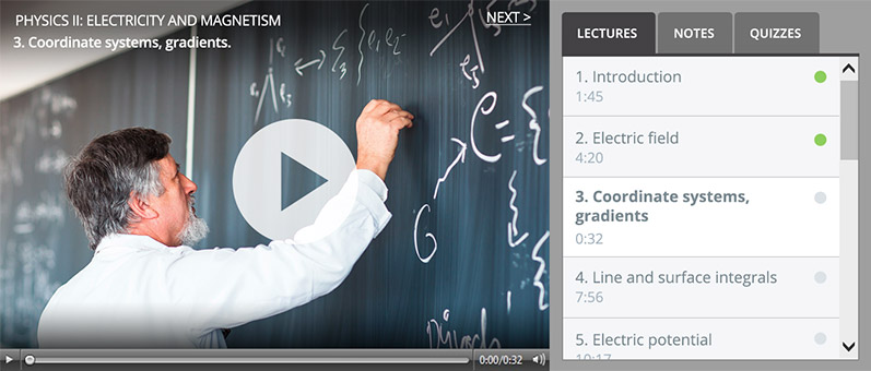 How to record lectures - online lecture UI