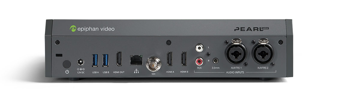 Pearl Mini video encoder - inputs