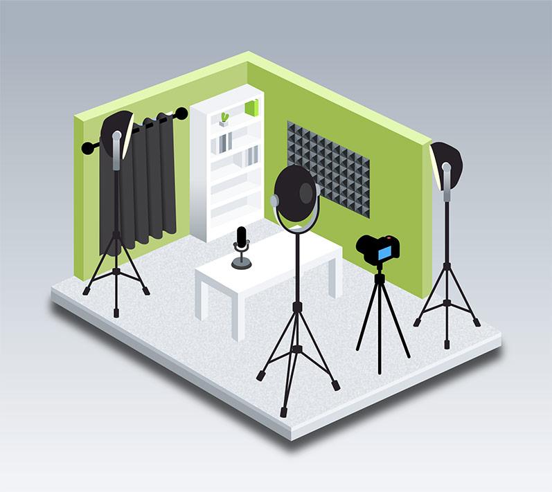 Pop-up studio