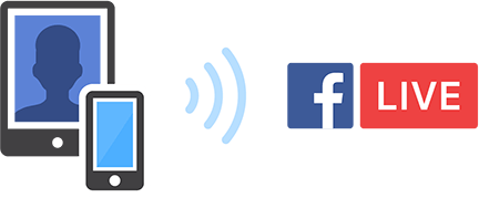 Streaming to Facebook with a mobile device