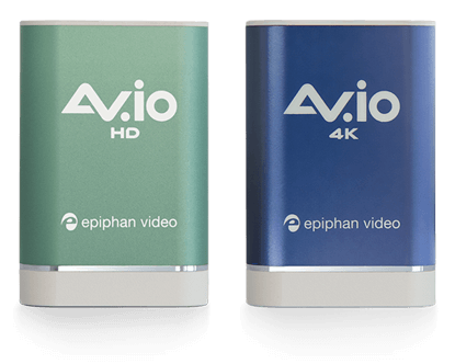 AV.io HD and AV.io 4K