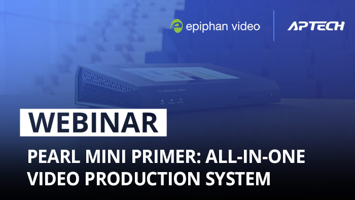 Pearl Mini primer: All-in-one video production system